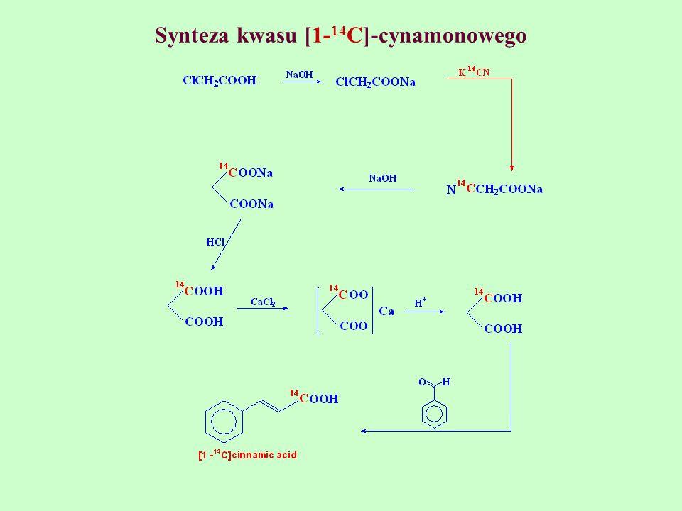 Synteza kwasu [1-14C]-cynamonowego